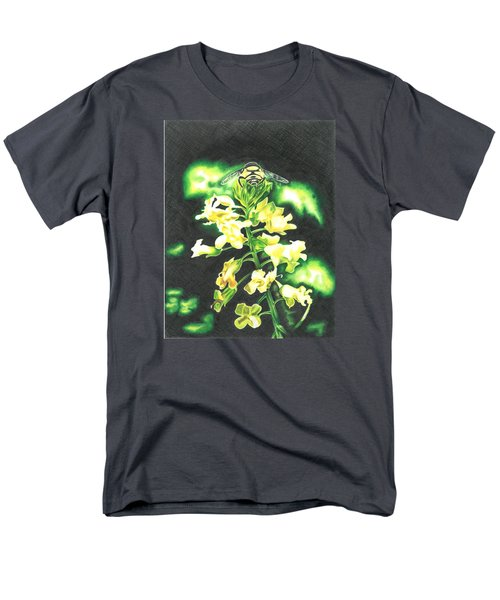 Men's T-Shirt  (Regular Fit) featuring the drawing Wild Flower by Troy Levesque