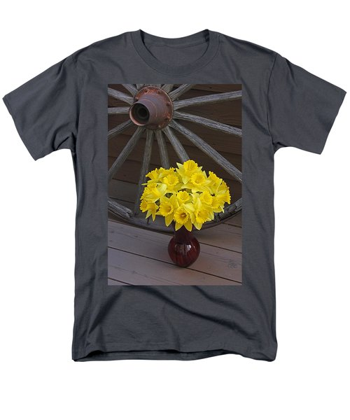 Men's T-Shirt  (Regular Fit) featuring the photograph Wild West Daffodils by Diane Alexander