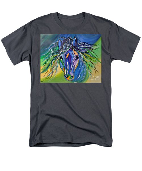 Men's T-Shirt  (Regular Fit) featuring the painting Willow The War Horse by Janice Rae Pariza