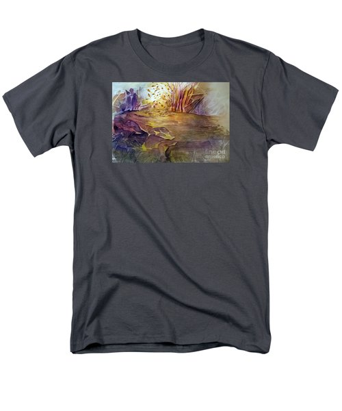 Men's T-Shirt  (Regular Fit) featuring the painting Wind In Fall by Allison Ashton