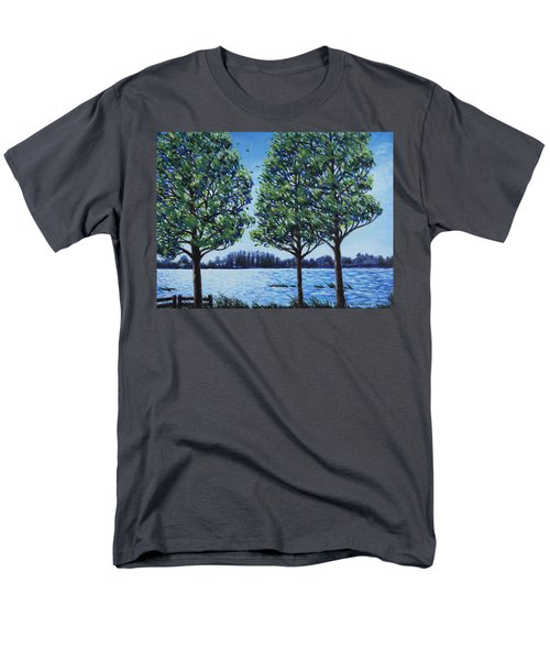 Men's T-Shirt  (Regular Fit) featuring the painting Wind In The Trees by Penny Birch-Williams