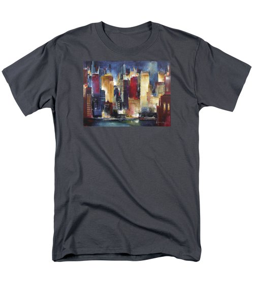 Windy City Nights Men's T-Shirt  (Regular Fit) by Kathleen Patrick