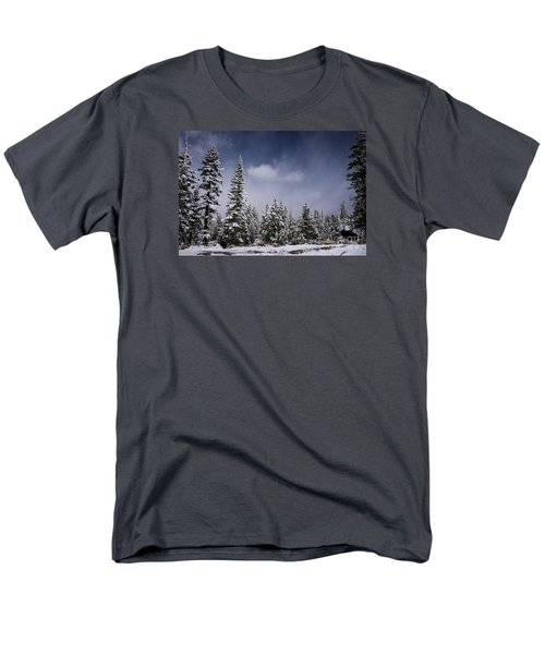 Men's T-Shirt  (Regular Fit) featuring the photograph Winter Again by Janis Knight