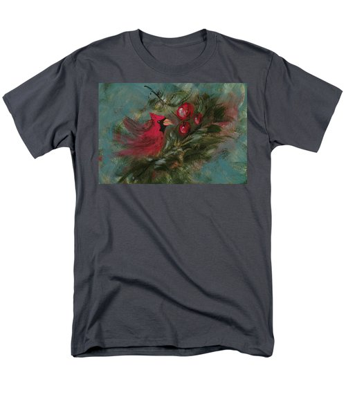 Winter Berries Men's T-Shirt  (Regular Fit) by Lee Beuther