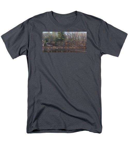 Men's T-Shirt  (Regular Fit) featuring the photograph Winter Flight by Debra     Vatalaro