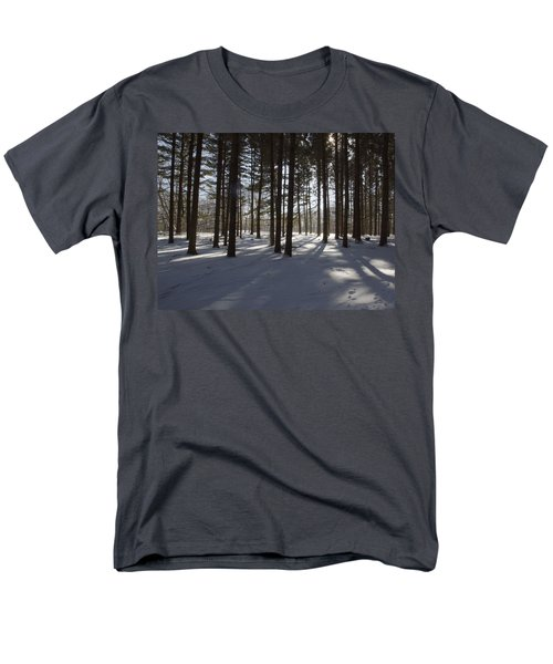 Winter Pines Men's T-Shirt  (Regular Fit) by Daniel Sheldon
