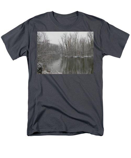Winter Reflections 1 Men's T-Shirt  (Regular Fit) by Mark Minier