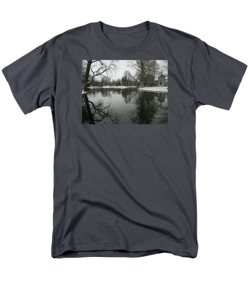 Men's T-Shirt  (Regular Fit) featuring the photograph Winter Reflections 2 by Kathy Barney