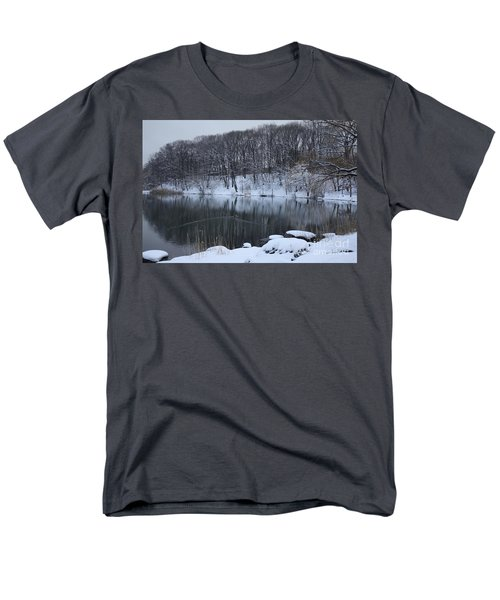 Men's T-Shirt  (Regular Fit) featuring the photograph Winter Reflections by Dora Sofia Caputo Photographic Art and Design