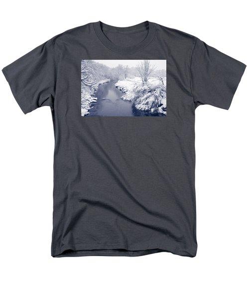 Men's T-Shirt  (Regular Fit) featuring the photograph Winter River by Liz Leyden