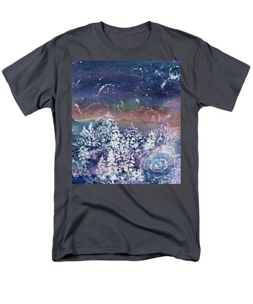 Men's T-Shirt  (Regular Fit) featuring the painting Winter Solstice  by Kathy Bassett