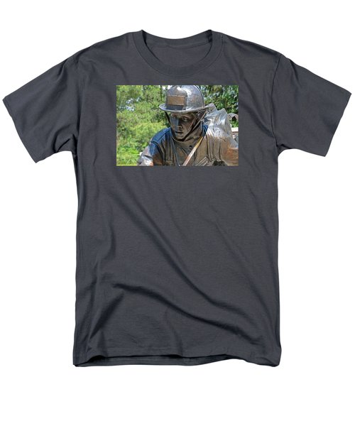 Men's T-Shirt  (Regular Fit) featuring the photograph Wisconsin State Firefighters Memorial 3  by Susan  McMenamin
