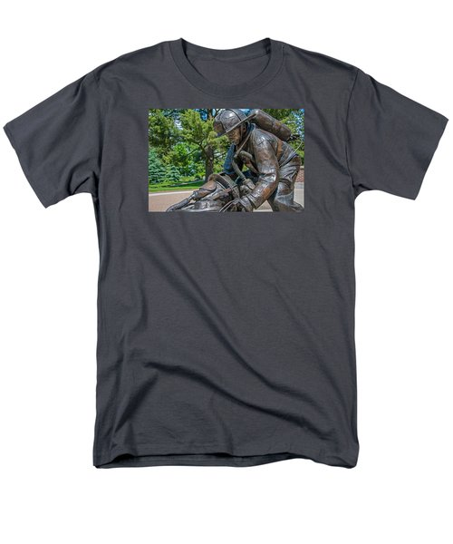 Men's T-Shirt  (Regular Fit) featuring the photograph Wisconsin State Firefighters Memorial 4 by Susan  McMenamin