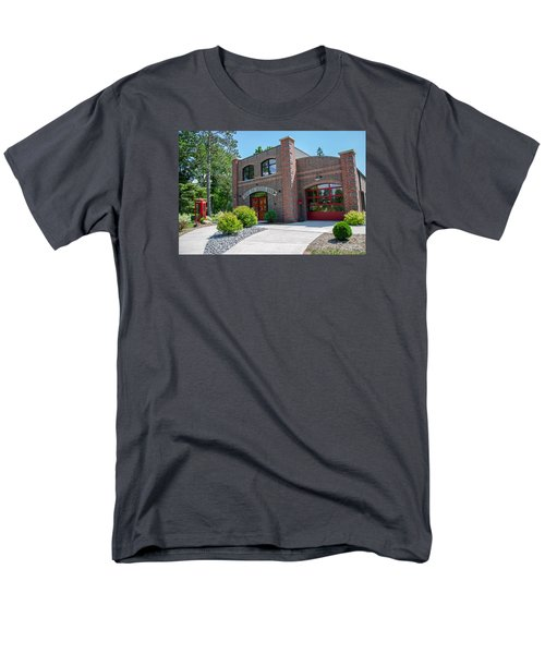 Men's T-Shirt  (Regular Fit) featuring the photograph Wisconsin State Firefighters Memorial 6 by Susan  McMenamin