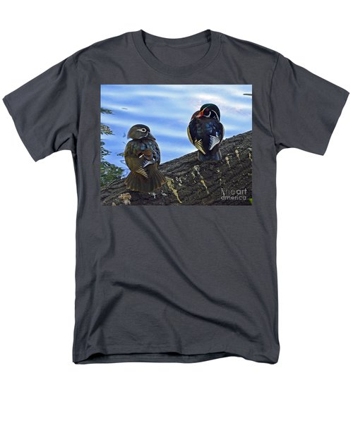 Men's T-Shirt  (Regular Fit) featuring the photograph Wood You Love Me Forever by Robert Meanor