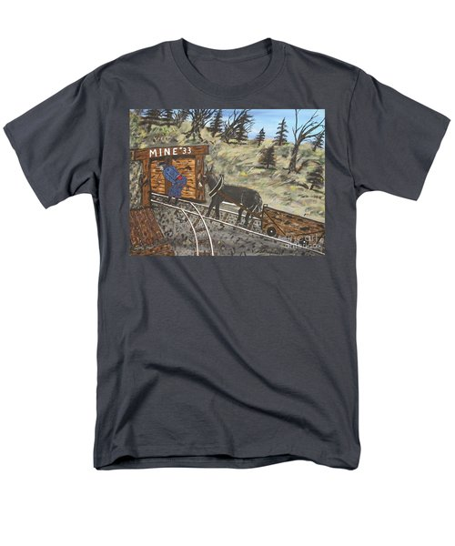 Men's T-Shirt  (Regular Fit) featuring the painting  The Coal Mine by Jeffrey Koss