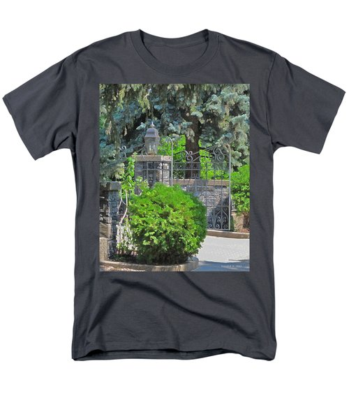 Wrought Iron Gate Men's T-Shirt  (Regular Fit) by Donald S Hall