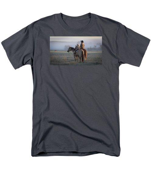 Wyoming Ranch Men's T-Shirt  (Regular Fit) by Diane Bohna