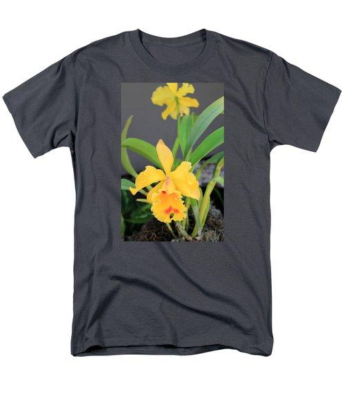 Men's T-Shirt  (Regular Fit) featuring the photograph Yellow Cattleya Orchid by Rosalie Scanlon
