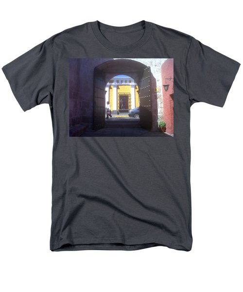 Men's T-Shirt  (Regular Fit) featuring the photograph Yellow Stucco by Lew Davis