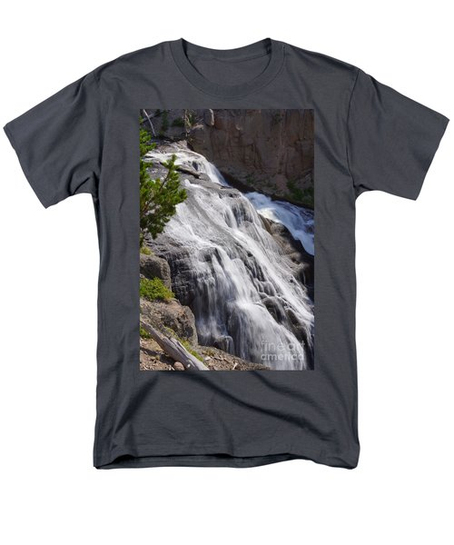 Yellowstone Gibbon Falls Men's T-Shirt  (Regular Fit) by Jennifer White