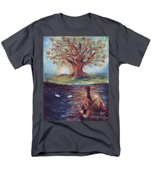 Yggdrasil - The Last Refuge Men's T-Shirt  (Regular Fit)