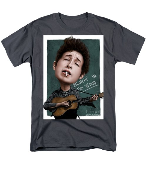 Young Bob Dylan Men's T-Shirt  (Regular Fit) by Andre Koekemoer