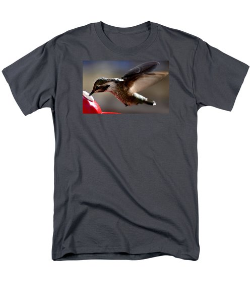 Men's T-Shirt  (Regular Fit) featuring the photograph Young Hummingbird Male Anna by Jay Milo