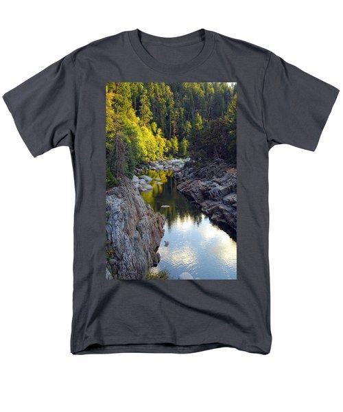 Yuba River Twilight Men's T-Shirt  (Regular Fit) by Donna Blackhall