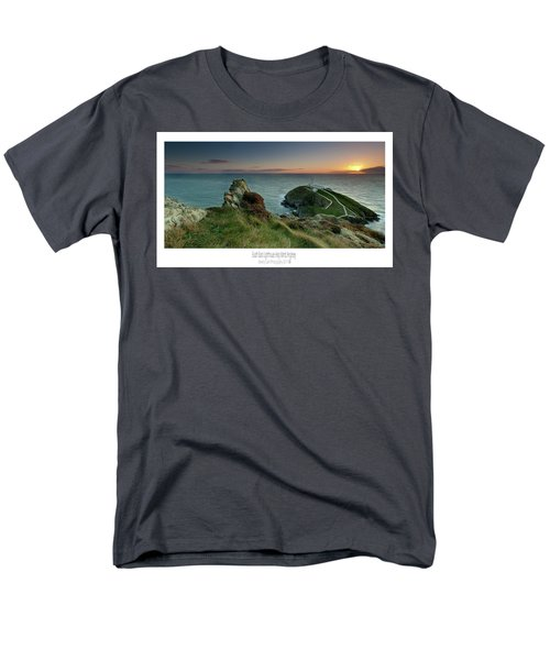 Men's T-Shirt  (Regular Fit) featuring the photograph  Sunset At South Stack Lighthouse by Beverly Cash