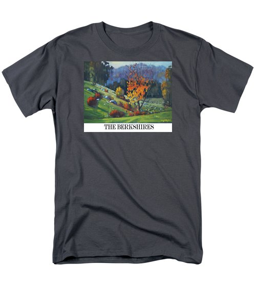 Men's T-Shirt  (Regular Fit) featuring the painting  The Berkshires by Len Stomski