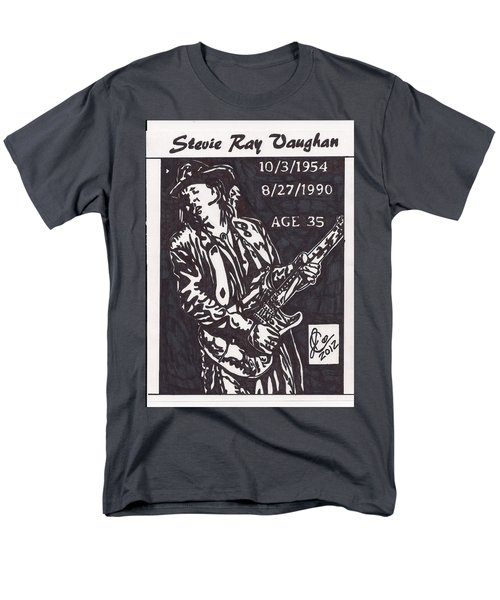 Men's T-Shirt  (Regular Fit) featuring the drawing Stevie Ray Vaughn by Jeremiah Colley