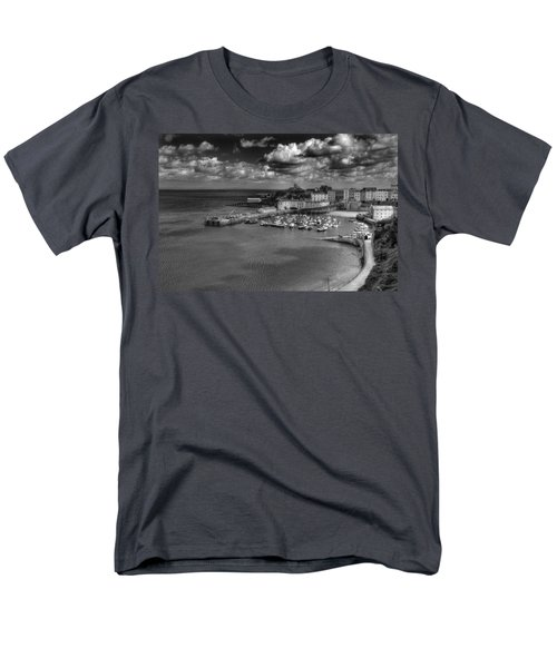 Men's T-Shirt  (Regular Fit) featuring the photograph Tenby Harbour by Steve Purnell