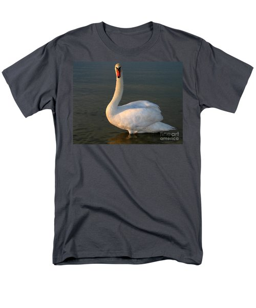 Men's T-Shirt  (Regular Fit) featuring the photograph Swan by Odon Czintos