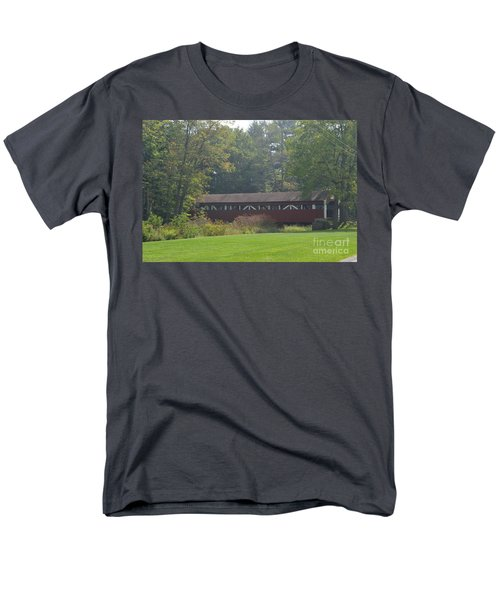 Covered Bridge Men's T-Shirt  (Regular Fit) by Randy J Heath