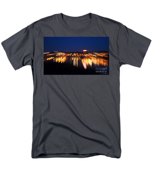 Abstract - City Lights Men's T-Shirt  (Regular Fit) by Sue Stefanowicz