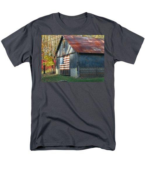 Men's T-Shirt  (Regular Fit) featuring the photograph Americana Barn by Clara Sue Beym