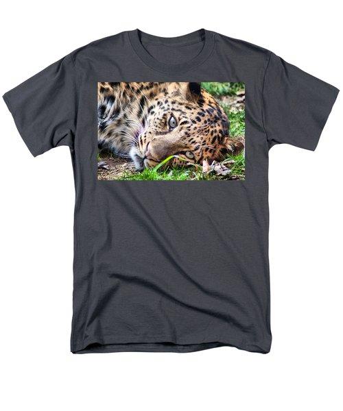 Amur Leopard Men's T-Shirt  (Regular Fit) by Lynne Jenkins