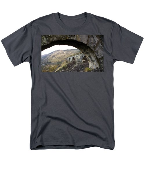 Men's T-Shirt  (Regular Fit) featuring the photograph Arches And Mountains by Steve McKinzie