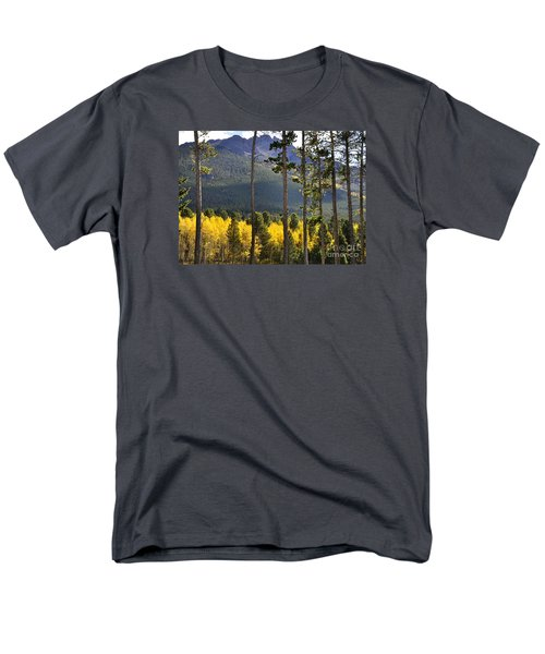 Men's T-Shirt  (Regular Fit) featuring the photograph Aspen Heaven Long's Peak Area by Nava Thompson