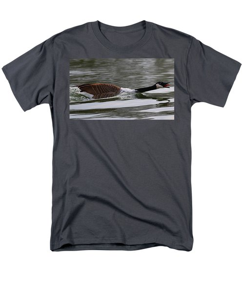 Men's T-Shirt  (Regular Fit) featuring the photograph Attack Of The Canadian Geese by Elizabeth Winter