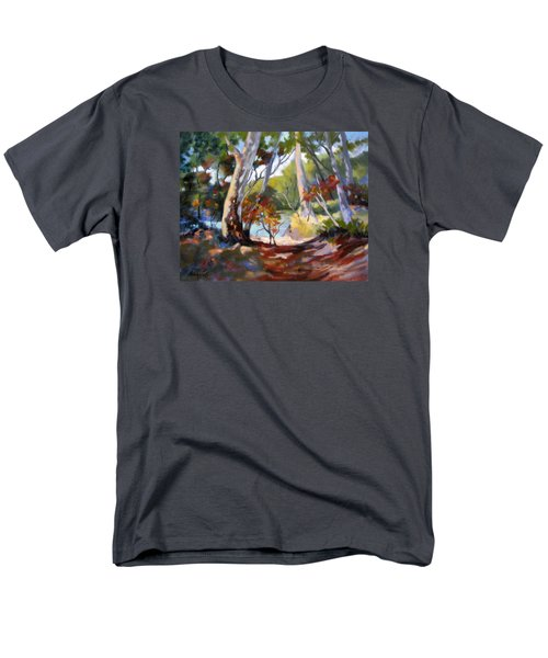 Men's T-Shirt  (Regular Fit) featuring the painting Australia Revisited by Rae Andrews