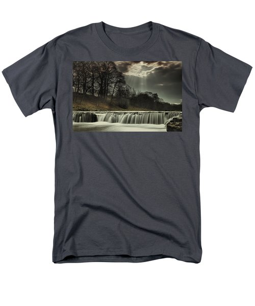 Aysgarth Falls Yorkshire England Men's T-Shirt  (Regular Fit) by John Short