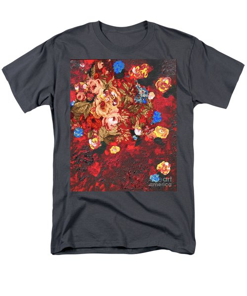 Men's T-Shirt  (Regular Fit) featuring the painting Baba's Garden Lg by Alys Caviness-Gober