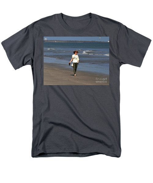 Men's T-Shirt  (Regular Fit) featuring the photograph Beach Walker by John Black