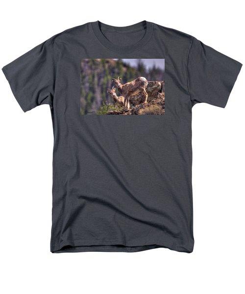Bighorn Sheep Men's T-Shirt  (Regular Fit) by CR  Courson