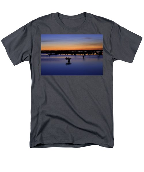 Blue Sunset Mangroves Men's T-Shirt  (Regular Fit) by Rich Franco