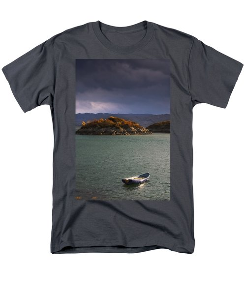 Boat On Loch Sunart, Scotland Men's T-Shirt  (Regular Fit) by John Short