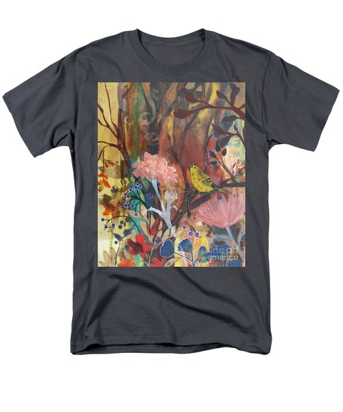 Men's T-Shirt  (Regular Fit) featuring the painting Breath Of Cooler Air by Robin Maria Pedrero