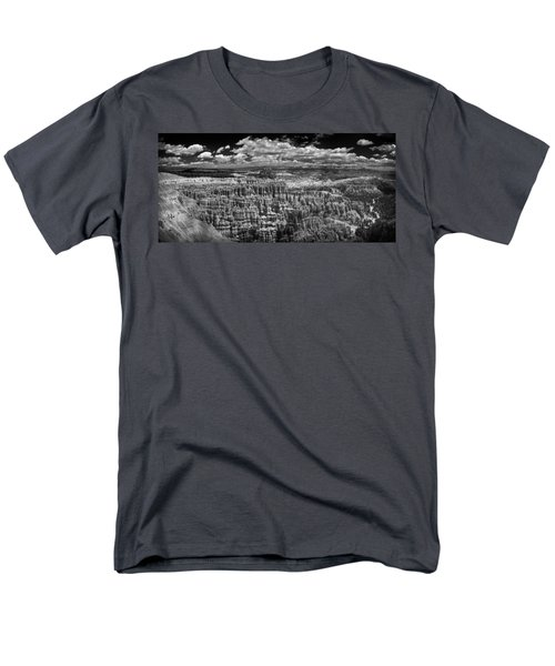 Bryce Canyon - Black And White Men's T-Shirt  (Regular Fit) by Larry Carr